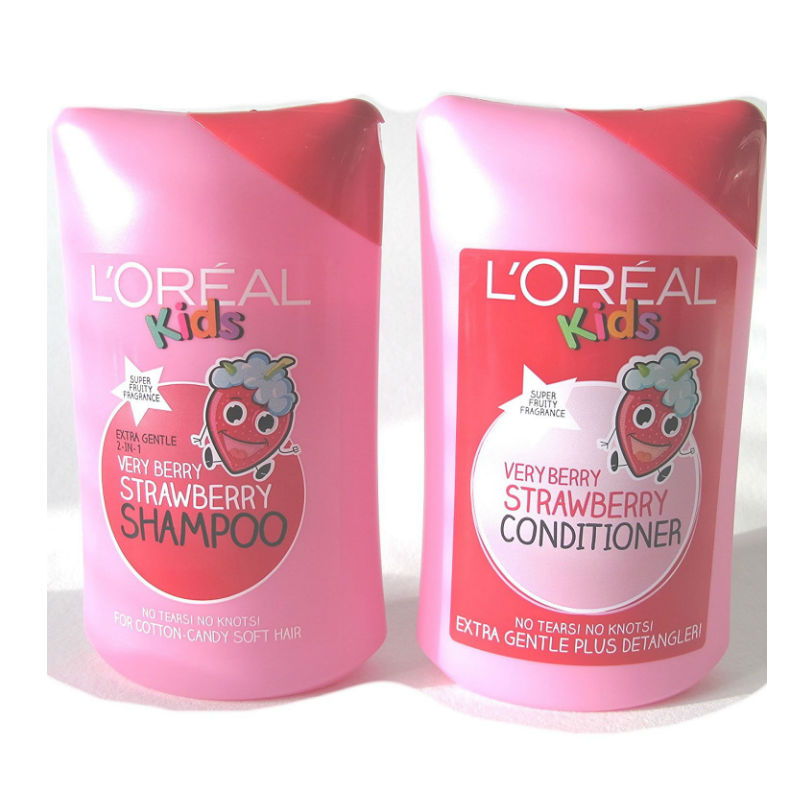 L'oreal Super Kids Very Berry Strawberry Shampoo 250ml plus L'oreal Kids  Very Berry Strawberry Conditioner 250 ml